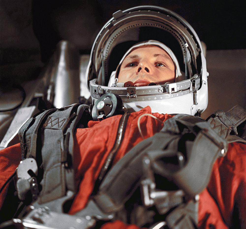 Yuri Gagarin, primer hombre en el espacio
