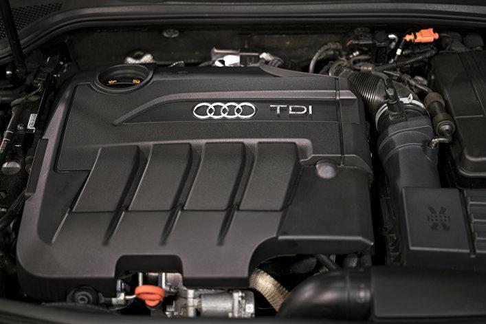 Motor de Audi A3 TDI. Los niveles reales de emisión de CO2 de modelos diésel de Volkswagen superan en 30 veces la norma.