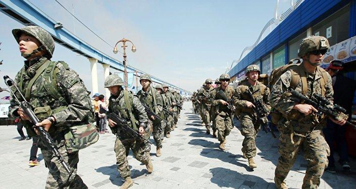 La Infantería de Marina de EEUU y Corea del Sur (archivo)