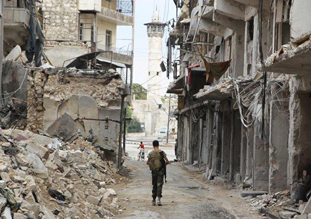 Combatiente del Ejército Libre de Siria
