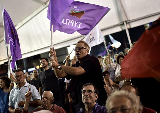 Partidarios de Syriza