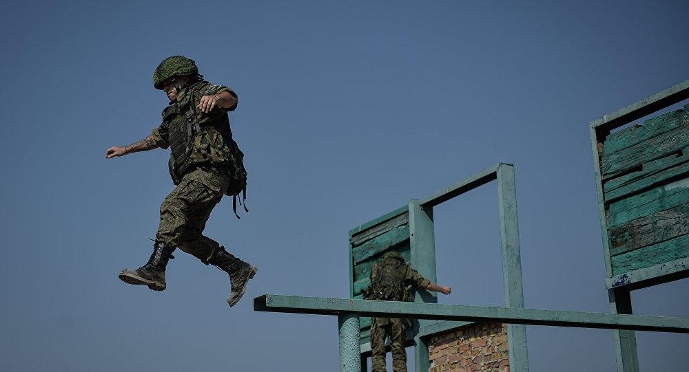 Infante de marina en Crimea