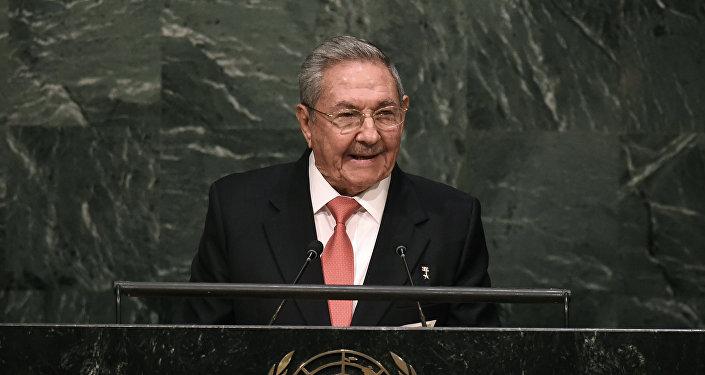 Raúl Castro durante la cumbre de la ONU sobre Desarrollo Sostenible