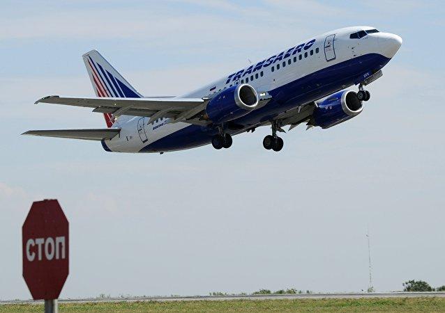 Avión de la aerolínea rusa Transaero