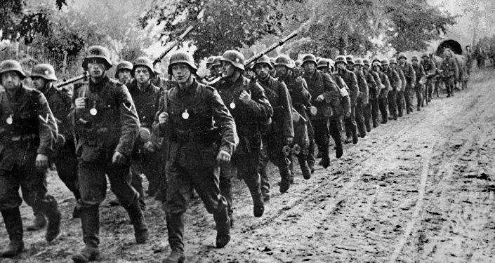 Soldados alemanes en Polonia en 1939
