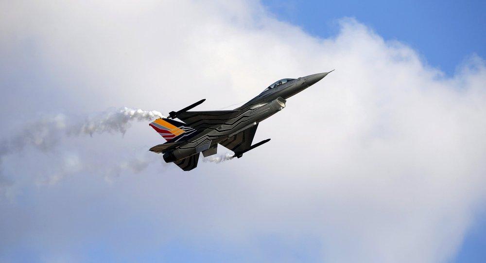 Caza F-16 de las Fuerzas Aéreas de Bélgica (archivo)