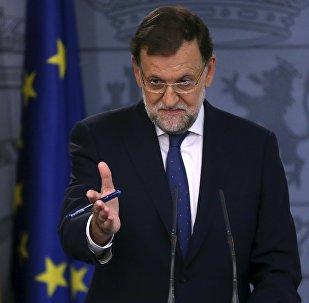 Mariano Rajoy, primer ministro de España, durante la rueda de prensa