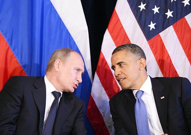 Vladímir Putin, presidente de Rusia, y Barack Obama, presidente de EEUU