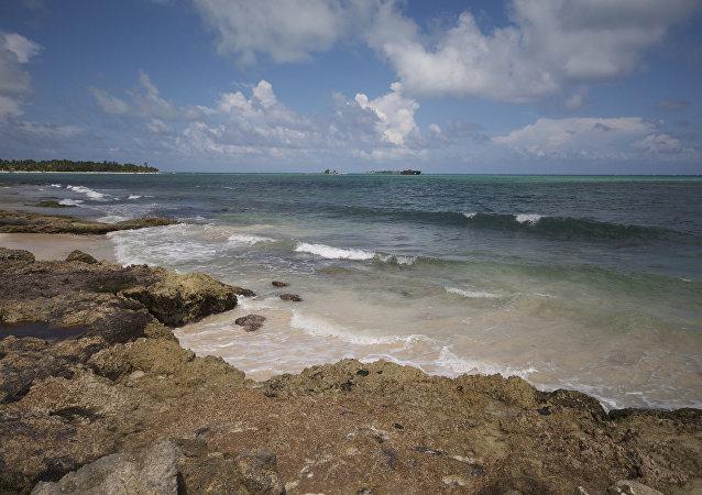 Una de las islas del archipiélago disputado de San Andrés (noroeste)