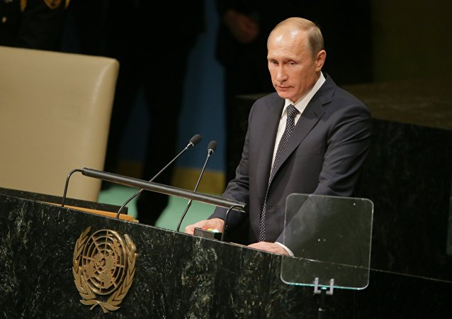 Vladímir Putin, presidente de Rusia, durante la 70ª sesión de la Asamblea General de la ONU