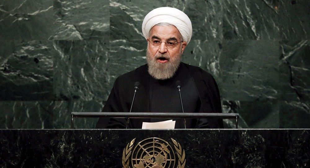 Hasán Rohani, presidente de Irán, durante la Asamblea General de la ONU (archivo)