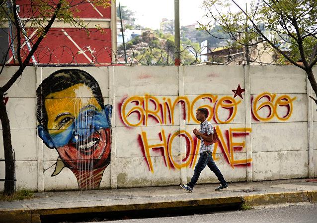 Un grafiti en Caracas