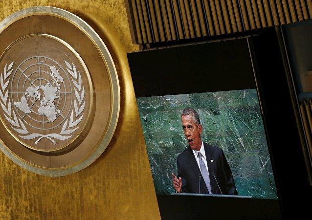 Presidente de EEUU, Barack Obama, durante su discurso ante la ONU