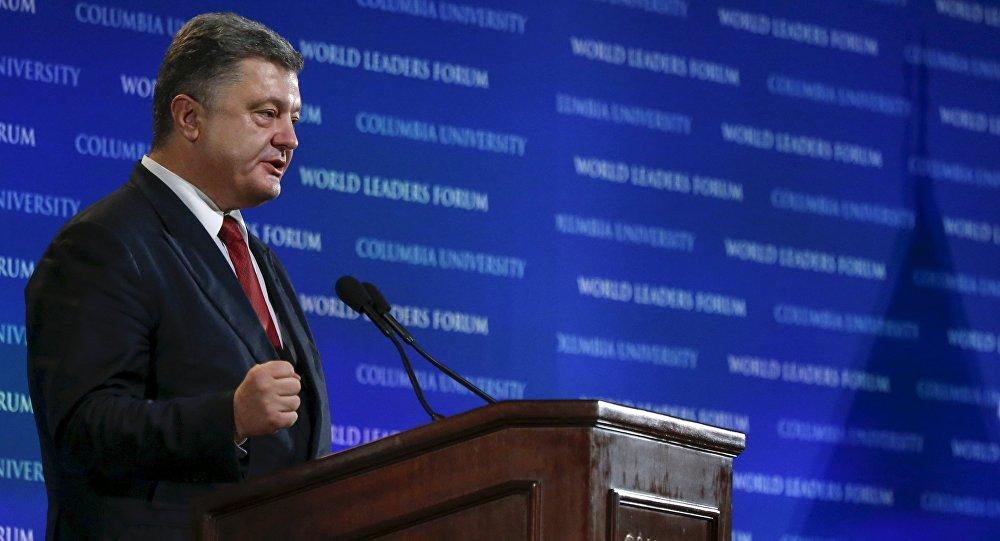 El presidente de Ucrania, Petró Poroshenko