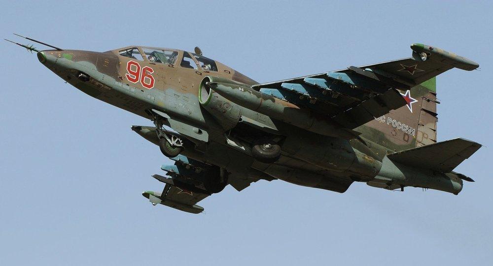 Caza Su-25 de Fuerza Aérea rusa