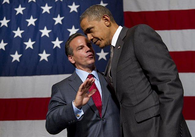 David Cicilline y presidente de EEUU, Barack Obama