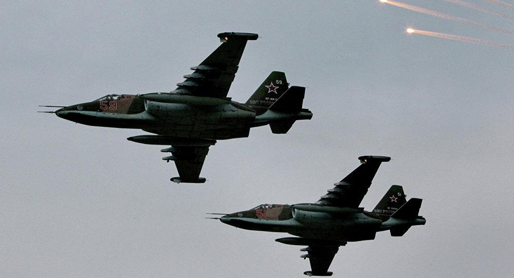 Aviones de asalto Su-25 (archivo)