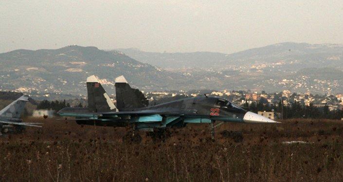 Caza ruso en la base aérea Hmeymim (Archivo)