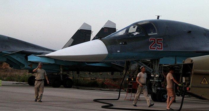 Avión ruso Su-34 en Siria (Archivo)