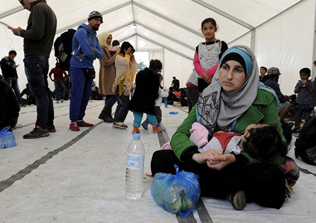 Refugiados sirios en Macedonia