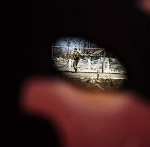 Militante en Ucrania