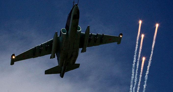 Caza Su-25 de la Fuerza Aérea rusa