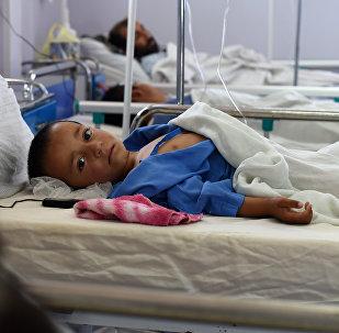 Niño afgano en el hospital de Médicos Sin Fronteras (archivo)