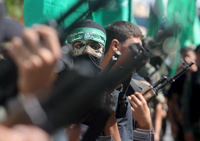 Militantes de Hamás (archivo)