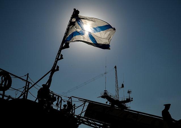 Pabellón naval ruso