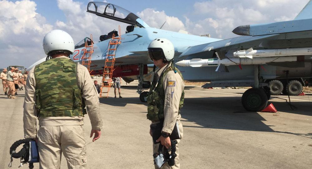 Cazas rusas en Siria