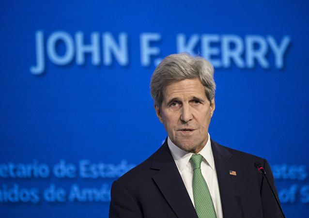 John Kerry, secretario de Estado de EEUU, durante la conferencia Nuestro océano en Chile