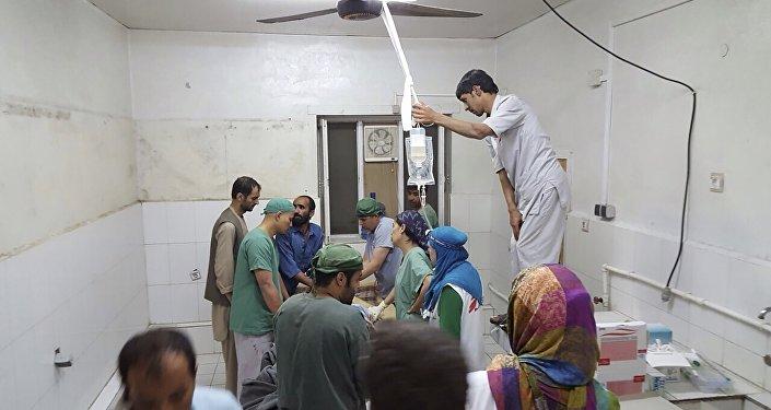 Hospital de Médicos Sin Fronteras después del ataque, el 3 de octubre, 2015