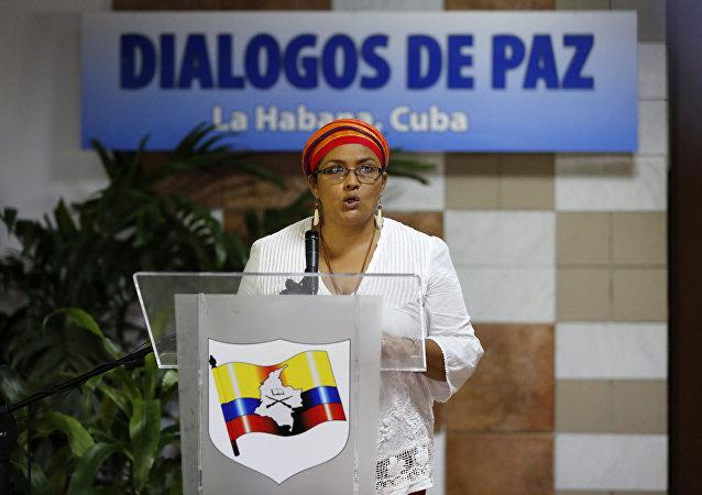Judith Simanca, alias Victoria Sandino, portavoz de las FARC