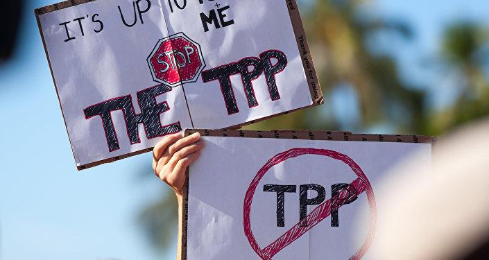 Protesta contra el TPP