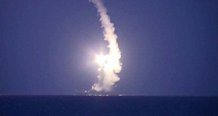 Lanzamiento de misiles por la Flotilla del Caspio