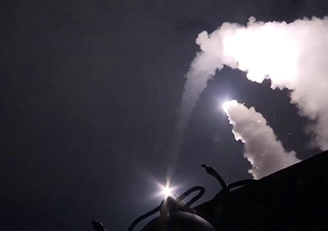 Misiles de crucero rusos lanzados desde el mar Caspio