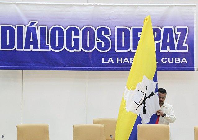 Logo de las negociaciones entre el gobierno de Colombia y las FARC en La Habana