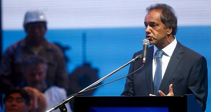 Daniel Scioli, candidato del peronista Frente para la Victoria