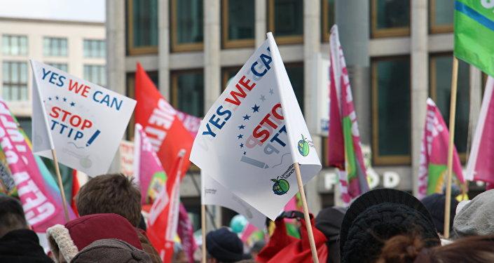 Protesta contra el TTIP