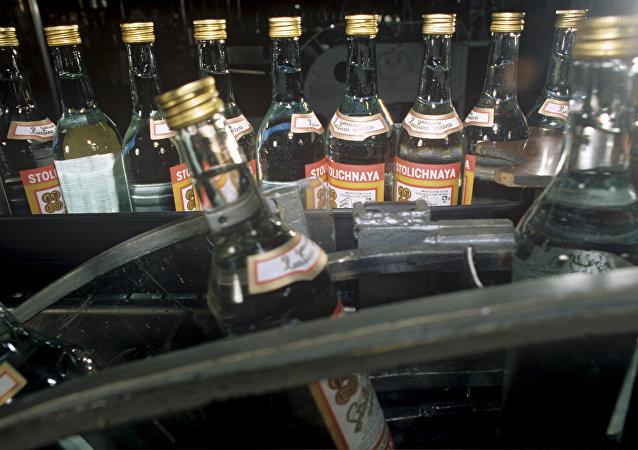Producción de vodka Stolichnaya