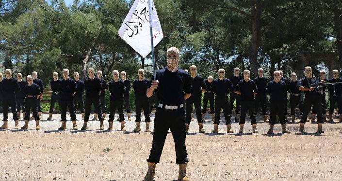Combatientes del Primer Batallón del Ejército Libre Sirio