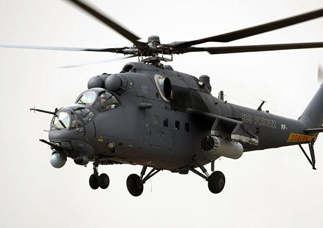 Helicóptero de combate Mi-35M (archivo)