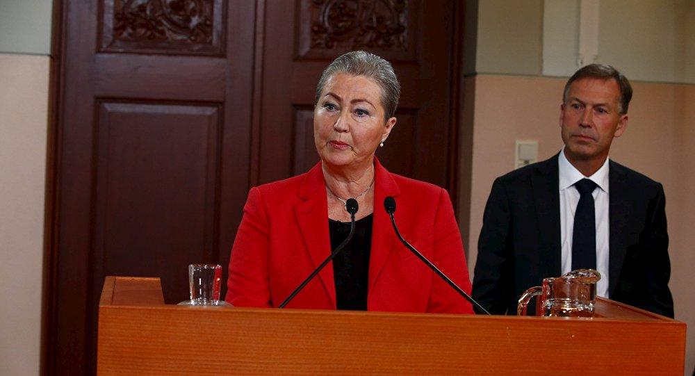 Kaci Kullmann Five, presidenta del Comité del Premio Nobel de la Paz, anuncia el galardón de este año