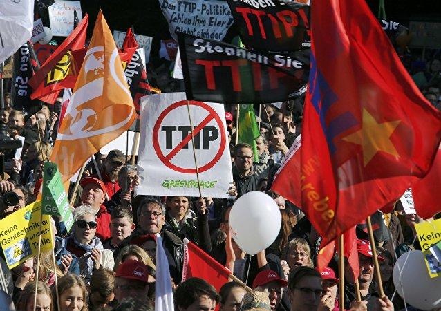 Manifestación en Berlín contra el TTIP