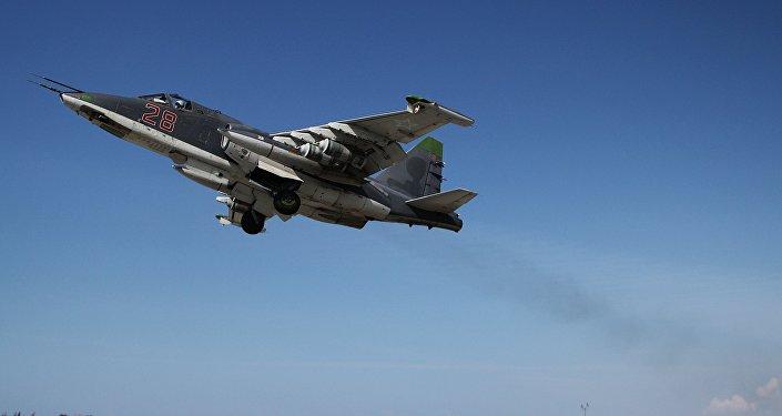 Cazas rusas Su-25 en Siria