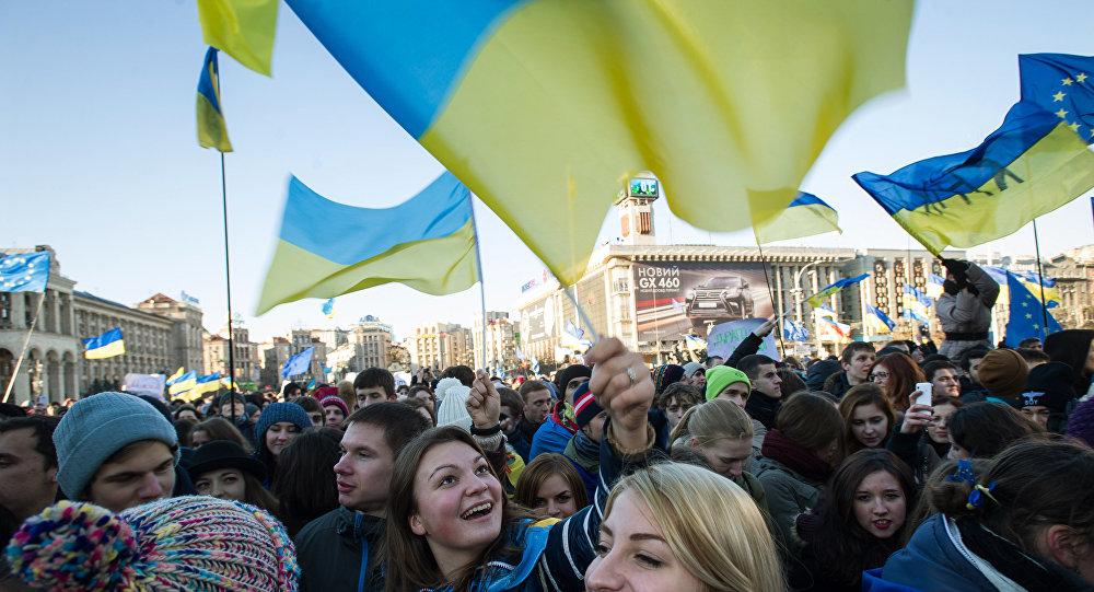 Manifestación en Kiev en apoyo de la integración de Ucrania en la UE (archivo)