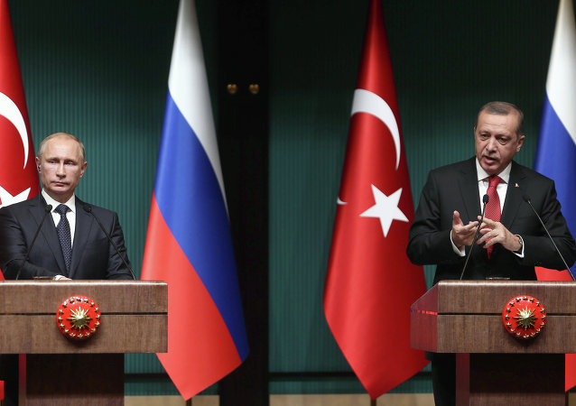El presidente de Turquía, Recep Tayyip Erdogan y el presidente de Rusia, Vladímir Putin