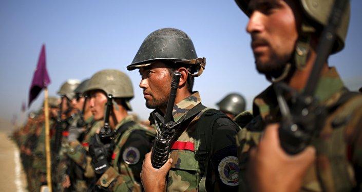 Militares del Ejército Nacional de Afganistán (archivo)