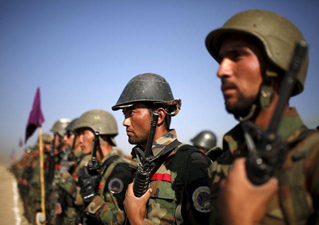 Militares del Ejército Nacional de Afganistán