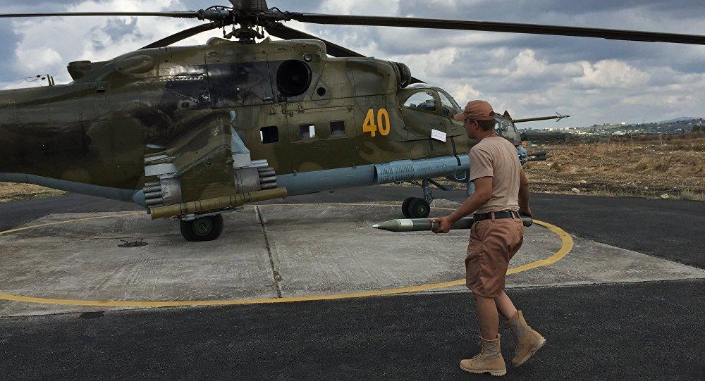 Helicópteros de las Fuerzas Aéreas de Rusia en Siria